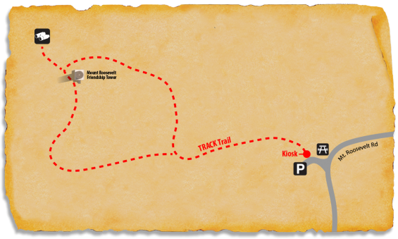 Map of TRACK Trail at Mount Roosevelt Friendship Tower