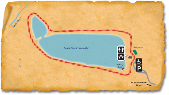 Map of TRACK Trail at Smith Creek Park