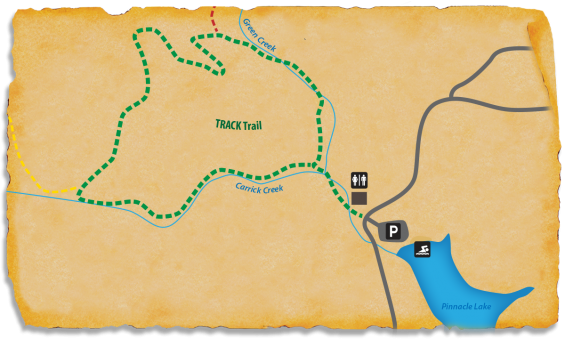 Map of TRACK Trail at Table Rock State Park