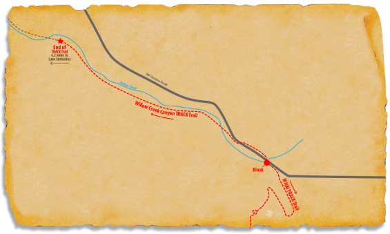 Map of TRACK Trail at Willow Creek Canyon