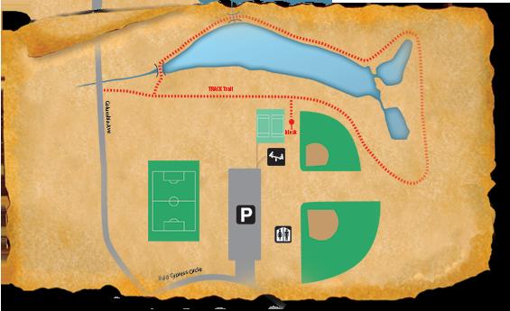 Map of TRACK Trail at Elizabeth Brinkley Park