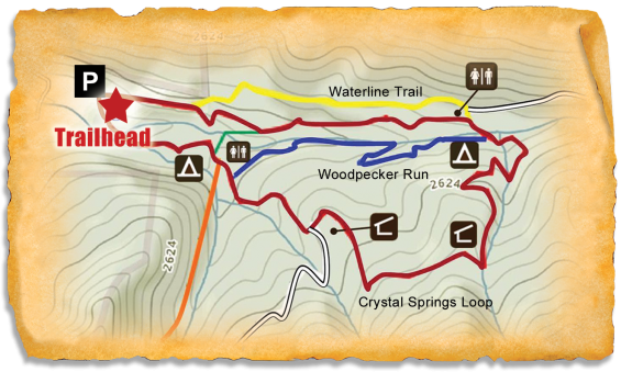 Crystal Springs Recreation Area TRACK Trail map