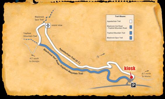 Map of TRACK Trail at Shenandoah Blackrock Summit
