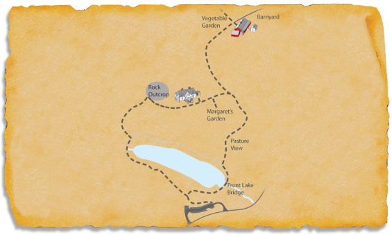 Map of TRACK Trail at Carl Sandburg Home National Historic Site