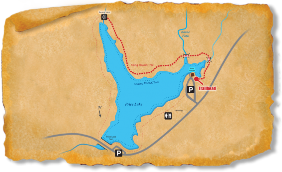 Map of TRACK Trail at Price Lake