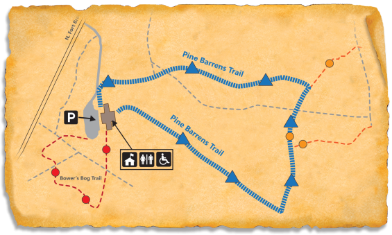 Map of TRACK Trail through Weymouth Woods