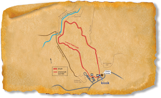 Map of TRACK Trail at Prince William Forest