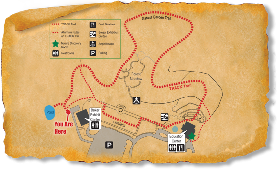 Map of TRACK Trail at North Carolina Arboretum