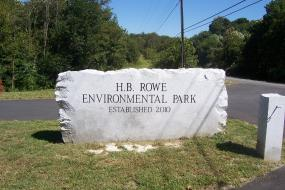 Sign for the H.B. Rowe Environmental Park established in 2010