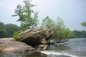 Large rock in the river
