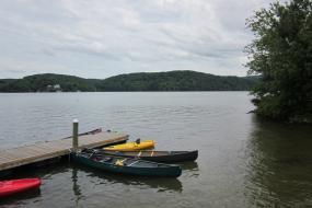 Canoes in Claytor Lake
