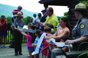 Chimney Rock Ribbon Cutting