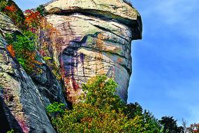 Chimney Rock in Fall