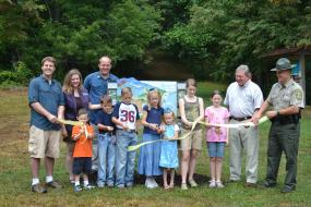 Claytor lake TRACK Trail ribbon cutting ceremony
