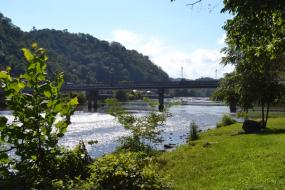 Bridge crossing the French Broad River