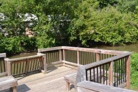 Observation deck overlook the river