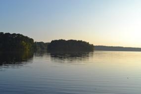 Lake in early morning light