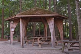 Small wooden Picnic Shelter
