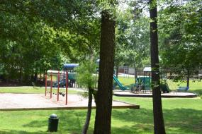 Swing set and playground
