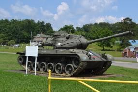 M47 Patton tank at Verterans Memorial Park