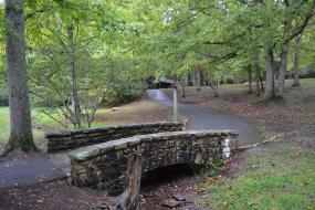 Small bridge on Hungry Mother State Park TRACK Trail