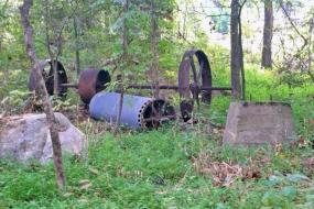 Remnants of mill equipment