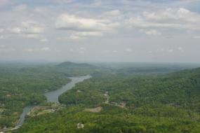 Landscape view and the Broad River