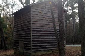 Rustic wooden building