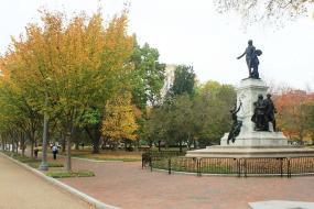 Lafayette Statue in Autumn