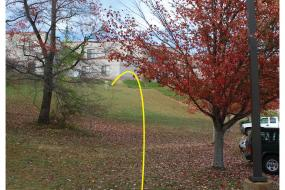 Hole 2 on the Disc Golf course