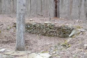 Foundation of an old cabin