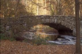 Stone bridge over creek