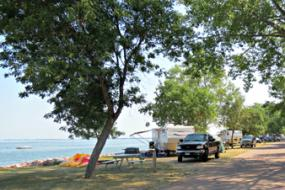 Campground on the lake