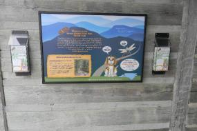 TRACK Trail sign with brochures