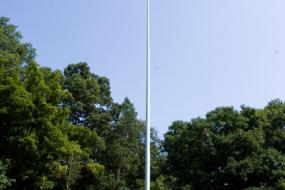 American flag on tall pole