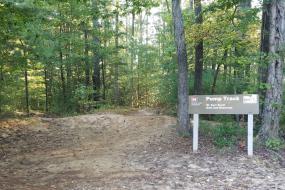 Pump track at Warrior's Creek