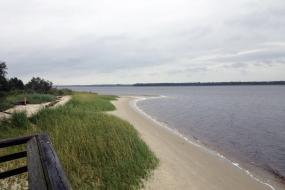 View along the coast line