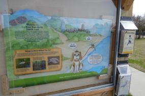 Kids in Parks trailhead sign and brochures