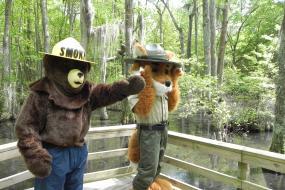 Smokey Bear and Ranger Parker Redfox
