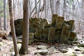 Blocky rock formation