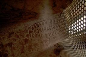 Hanson Bothers Contrator (Deadwood)  stamp in stairs
