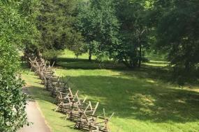 Historic, period fencing at Musgrove Mill