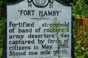 History of Fort Hamby sign
