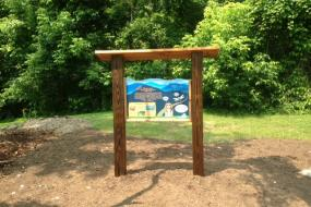 TRACK Trail sign
