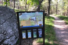 TRACK Trail Kiosk with brochures