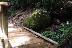 Small bridge and boulder
