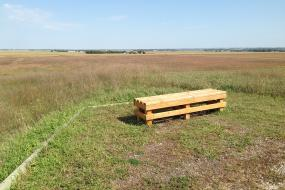Bench in the prairie