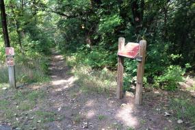 Hiking trail and map
