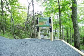 Kids in Parks trail head sign and kiosk