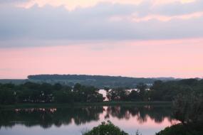 Sunset sky reflecting in lake